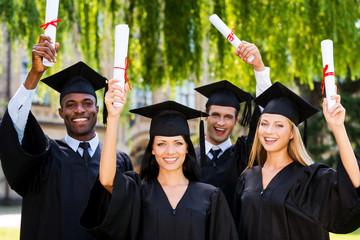 Happy graduates.