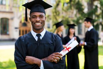 Happy graduate.