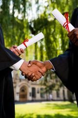Congratulating with graduation.