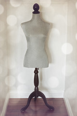 Vintage mannequin with retro filter effect