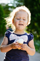 girl eating an ice-cream