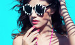 Summer beauty and fashion concept woman with sunglasses