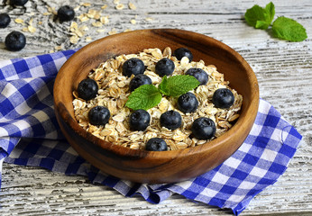Muesli with blueberry.