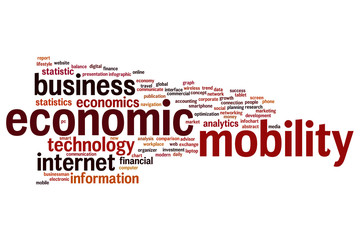Economic mobility word cloud
