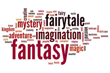 Fantasy word cloud
