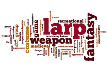 LARP word cloud