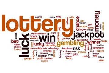 Lottery word cloud