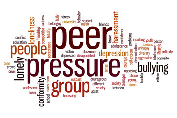 Peer pressure word cloud