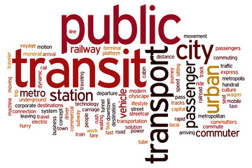 Public transit word cloud