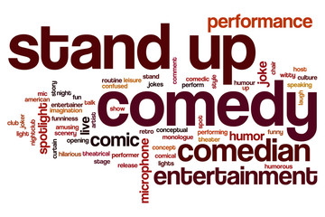 Stand up comedy word cloud