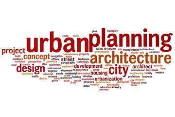 Urban planning word cloud