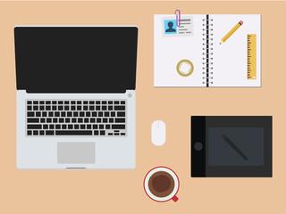 Workspace - Flat Design