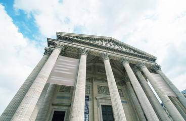The Pantheon facade in Paris