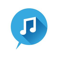Music icon, vector illustration. Flat design style