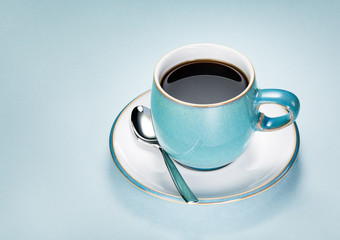 Blue Cup Black Coffee