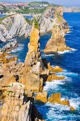 Broken coast (Costa quebrada) at Liencres, Spain