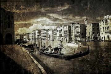 Gondola na Canal Grande styl retro