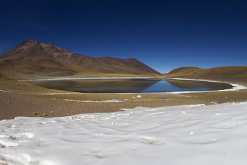 lagoon with snow in Andes