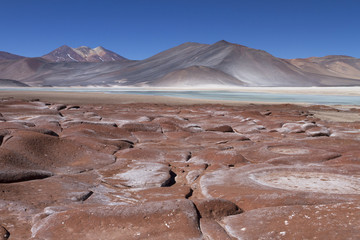 red stones in the Andes