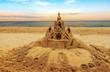 Sand castle on beach
