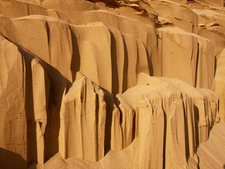 erosion of sandstone. background