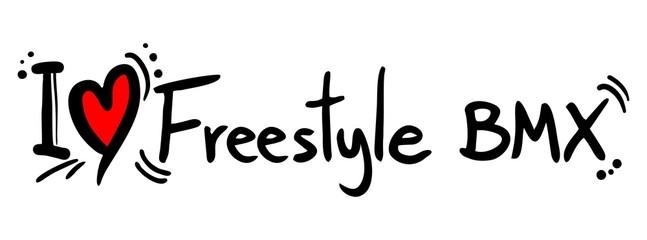 Freestyle BMX love