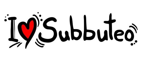 Subbuteo sport love message