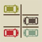 Fototapety parking signal