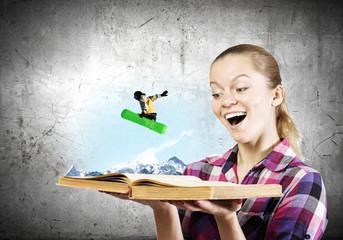 Snowboarding concept