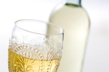 白ワイン ワイングラス ワインボトル