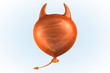 canvas print picture - Orange Devil Balloon
