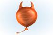 canvas print picture - Orange Devil Balloon