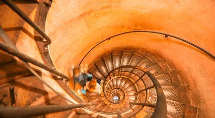Circular spiral staircase