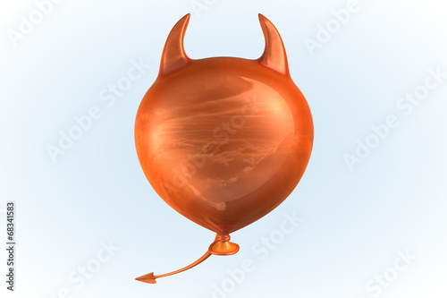 canvas print picture Orange Devil Balloon