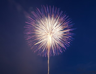 colorful firework from japanese traditional summer festivel