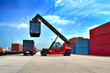 forklift handling the container box - 68342106