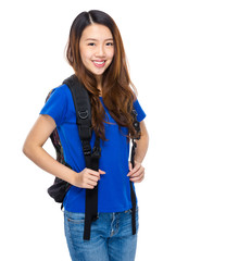 Asian young woman student