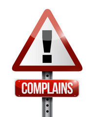 complains warning sign illustration