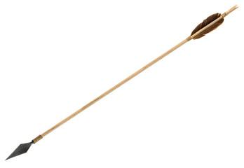Antique old wooden arrow
