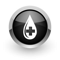 blood black chrome glossy web icon