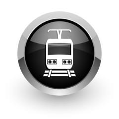train black chrome glossy web icon