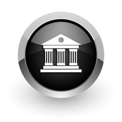museum black chrome glossy web icon