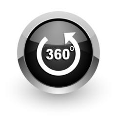 panorama black chrome glossy web icon