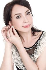 portrait of attractive young woman portrait