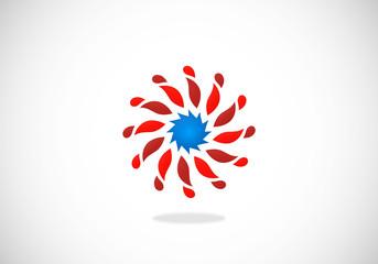 circular information connection vector logo