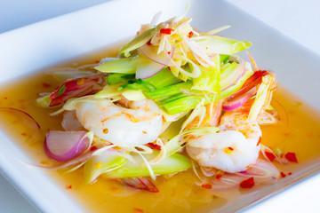lemongrass salad with shrimp