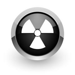 radiation black chrome glossy web icon