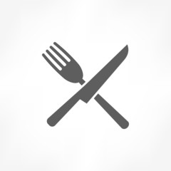 fork cross knife icon