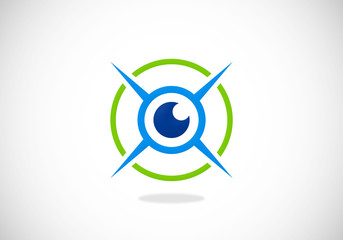 eye monitoring security vector logo