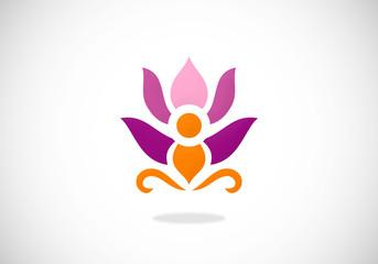 flower lotus spa abstract vector logo